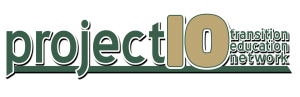 Logo for Project 10 TransitionEducation Network